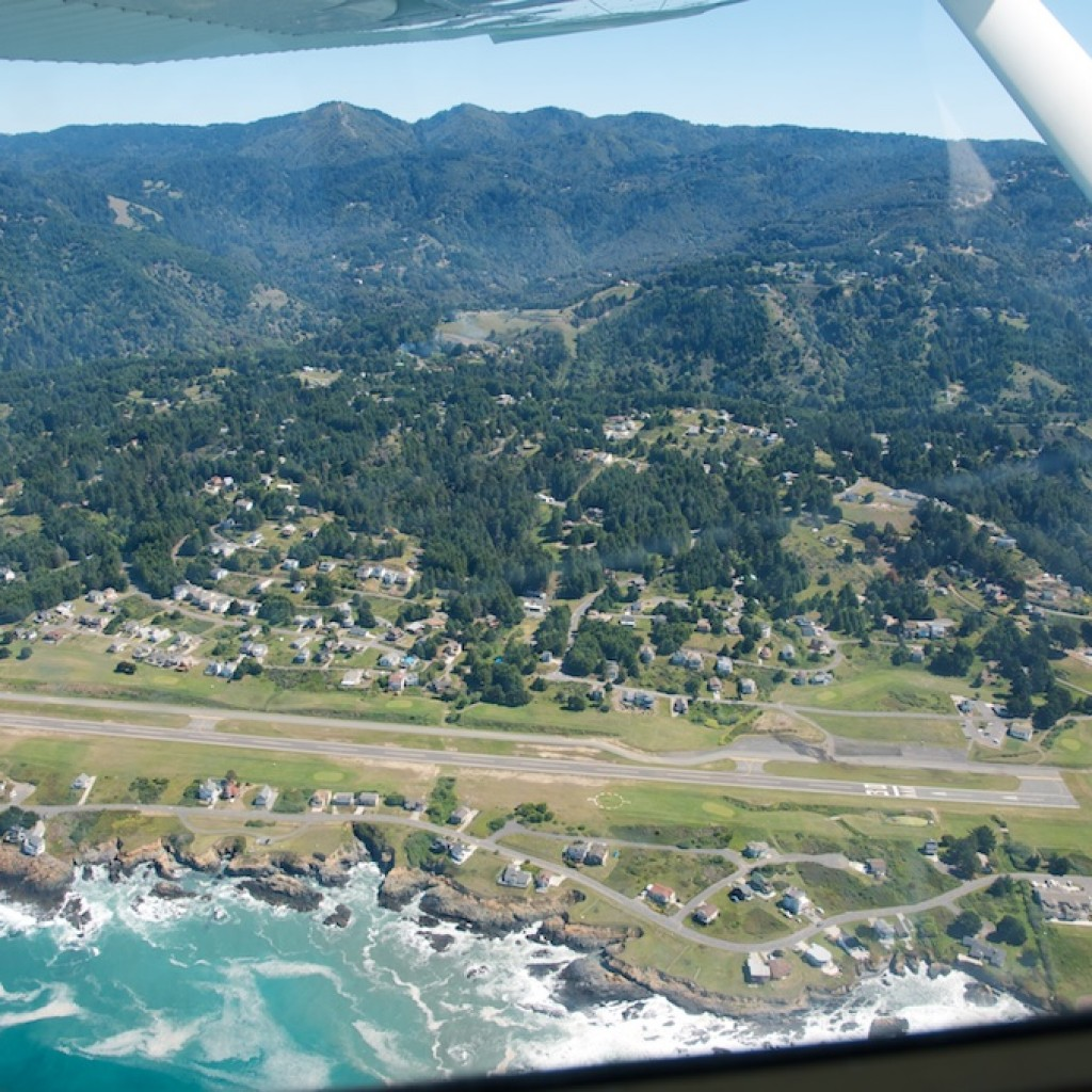 Shelter Cove from above
